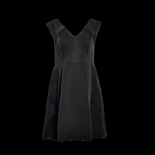 Nanette Lepore Black Ribbed Dress