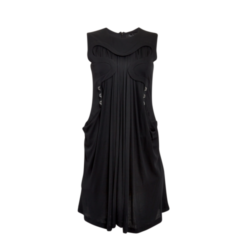 Marios Schwab Black Corset Dress