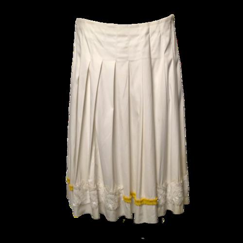 Prada White Embellished Skirt