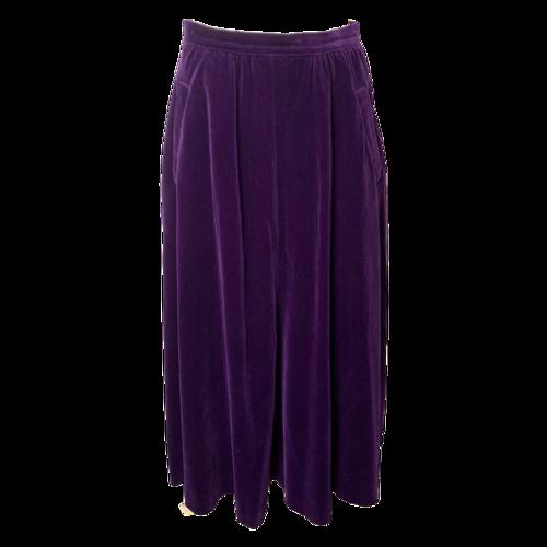Guy Laroche Purple Velvet Skirt