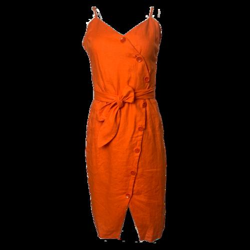 Joie Orange Dress w/ Belt