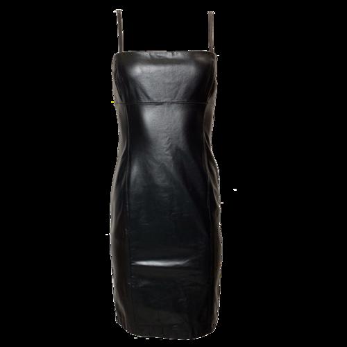 Ralph Lauren Black Leather Dress