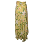 Yellow Floral Wrap Skirt