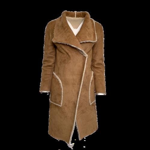 Unknown Fleece/Brown Suede  Reversible  Jacket
