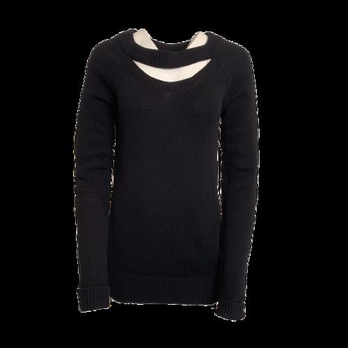 Altuzarra Black V-Neck Cut Out Sweater
