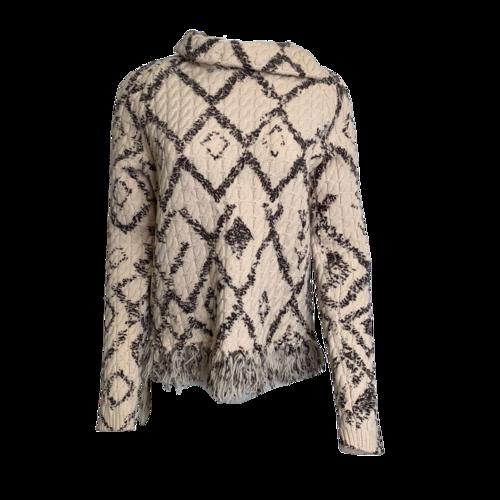 Altuzarra Black & White Knit Turtleneck Sweater