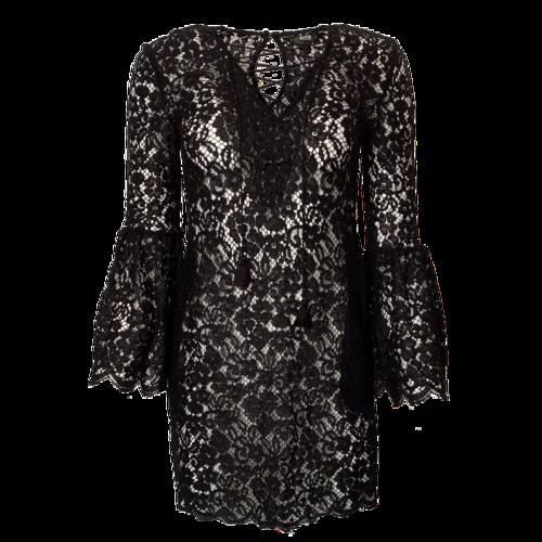 Rachel Zoe Black Lace See-Through Dress