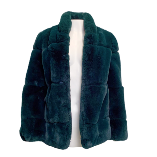 APPARIS Green Faux Fur Coat