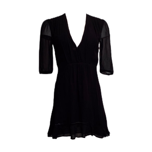 Reformation Black  V-Neck Dress