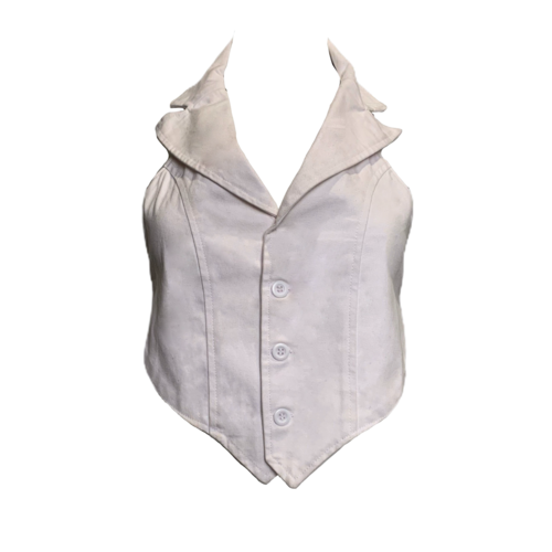Custom Made White Tie Vest