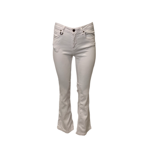 Burberry White Chelsea Bootcut Jeans