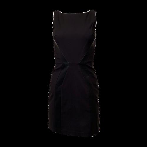 Giorgio Armani Armani Exchange - Black Pencil Dress w/ Leather Panels