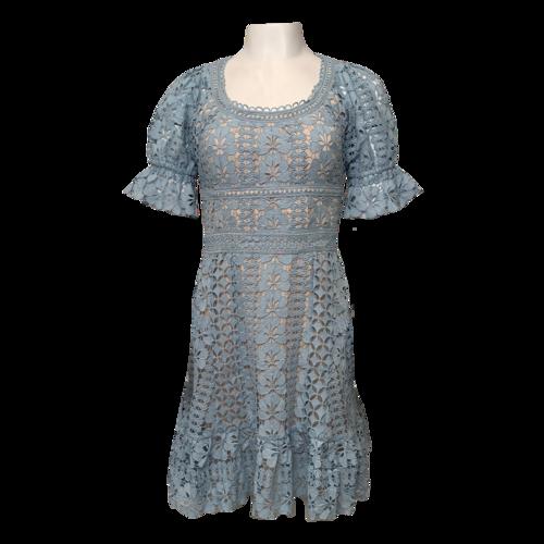 Daiisy Blue Crochet Dress