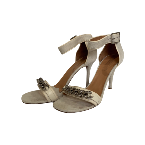 CELINE White Fur Heels