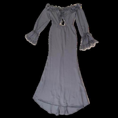 Majorelle Periwinkle Lace Detailed Maxi Dress