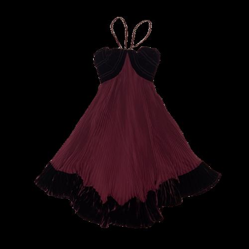 Roberto Cavalli Purple Pleated Dress