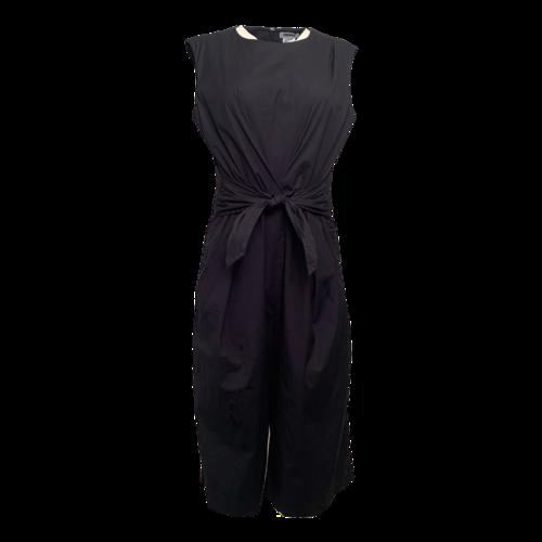 DKNY Black Tie-front Jumpsuit