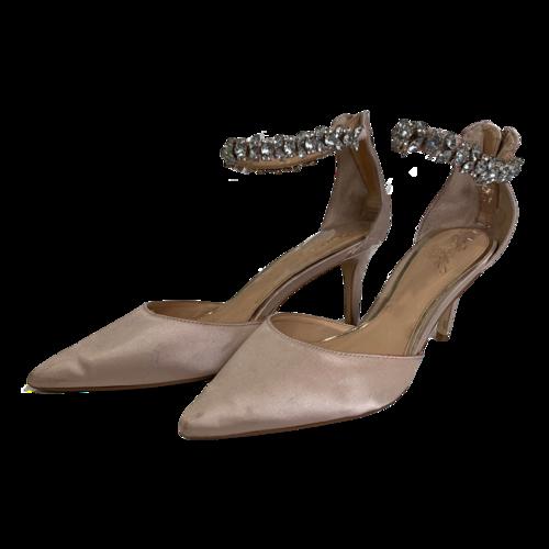Badgley Mischka Audrey Silk Kitten Heels