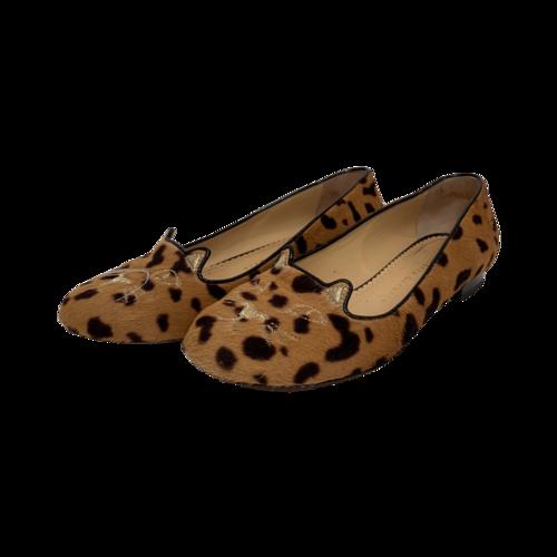 Charlotte Olympia Leopard Kitty Flats