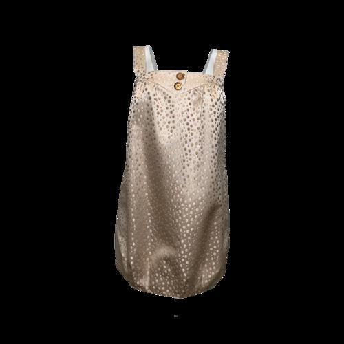 LaRok Golden Polka Dot Dress