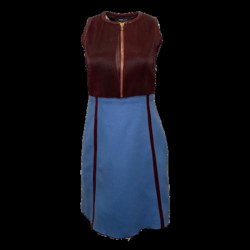 Derek Lam Color Block Front Zipper Dress