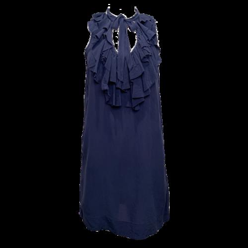 Joie Blue Dress w/ Ruffle Collar