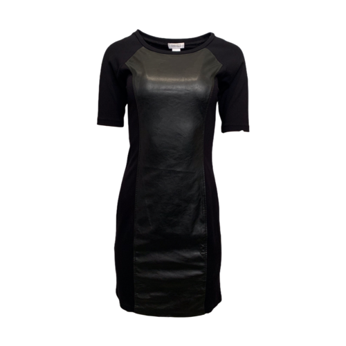 Barneys Black Dress w/ Vegan Leather Panels