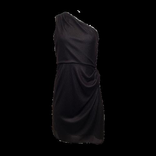 Alexander Wang Black Woven One Shoulder Dress
