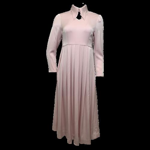 Alexa Chung Pink Pleated Long Sleeve Dress