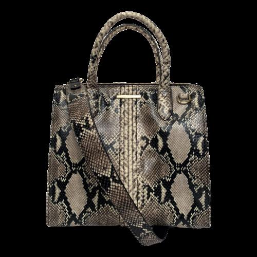 Brahmin Caroline Caviar Felix Python Leather Satchel Bag