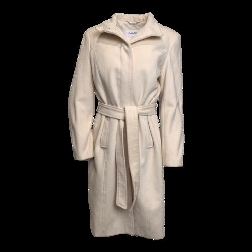 Calvin Klein Cream Wool Coat