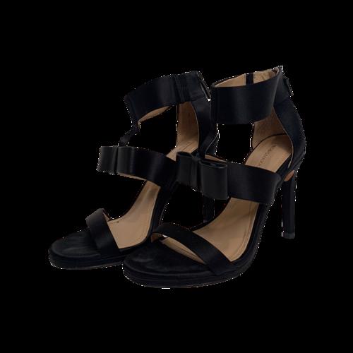 BCBGMAXAZRIA Black Sandals w/ Bow Detail