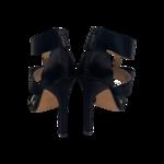 Black Sandals w/ Bow Detail