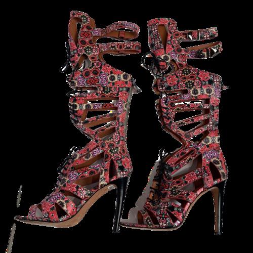 Rebecca Minkoff Floral Gladiator Knee-High Sandals