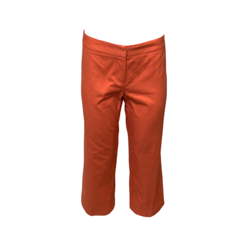 Trina Turk Orange Cropped Chino Pants