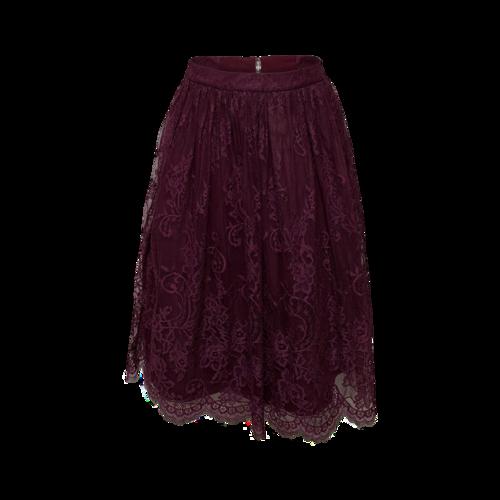 Alice + Olivia Purple Lace Skirt