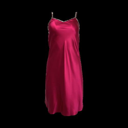 Helmut Lang Hot Pink Silk Dress w/ Zipper Detailing