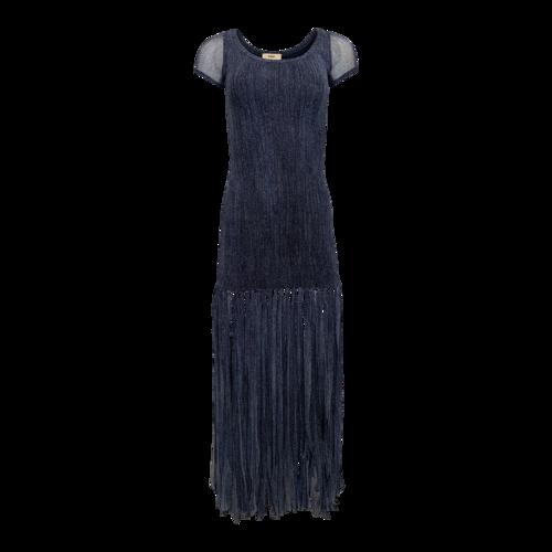 Fuzzi Blue Fringe Dress