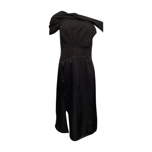 3.1 Phillip Lim Black Off the Shoulder Dress w/ Pleated Bodice