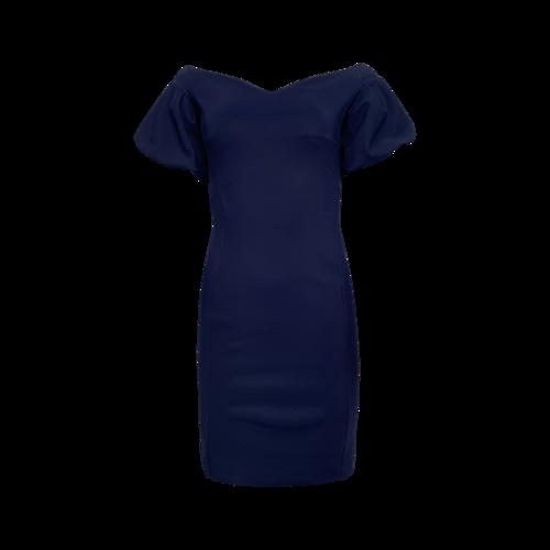Chiara Boni La Petite Robe Royal Blue Puff Sleeve Dress