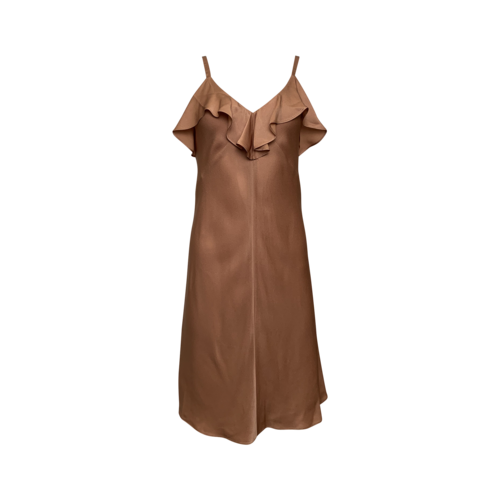 A.L.C. Rose Gold Dress w/ Ruffle