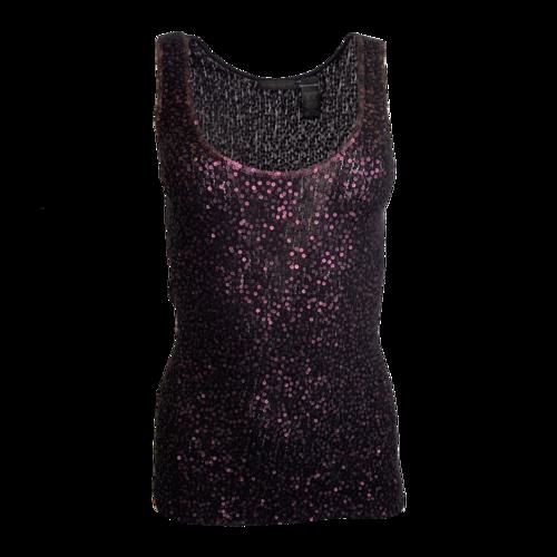 DKNY Purple Sequin Top