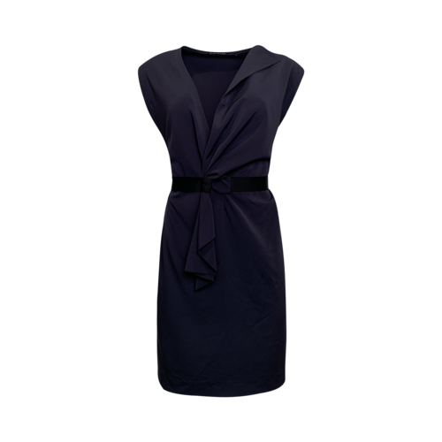 Elie Tahari Sleeveless Faux-Wrap Dress