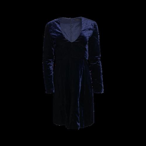 Jill Stuart Blue Velvet V-Neck Dress