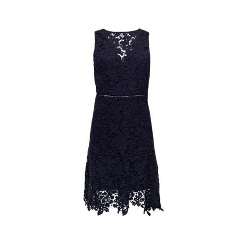 Joie Navy Blue Floral Lace Overlay Dress