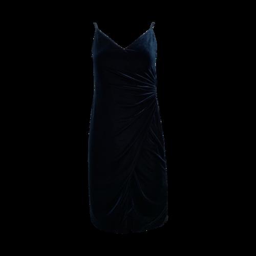 Black Halo Velvet Green Dress