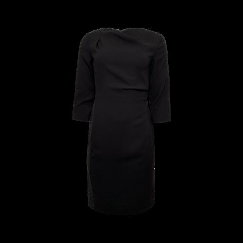 Max Mara Black Quarter Sleeve Cowl Neck Dress