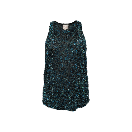 Parker Blue and Green Racerback Sequin Top