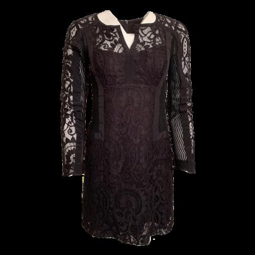 Nanette Lepore Black Lace Dress w/ Mesh