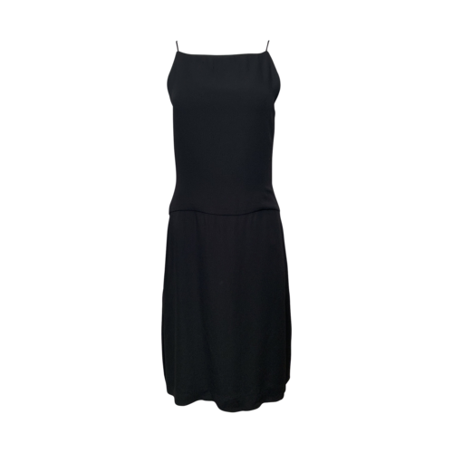 Vera Wang Black Dress w/ Thigh Slit